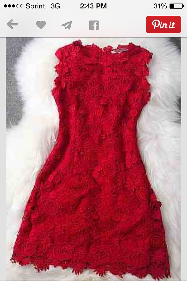 short homecoming dress lace dress red
