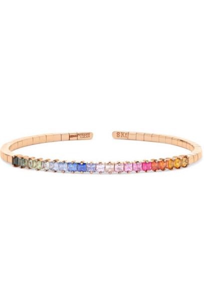 Suzanne Kalan cuff rainbow rose gold rose gold jewels