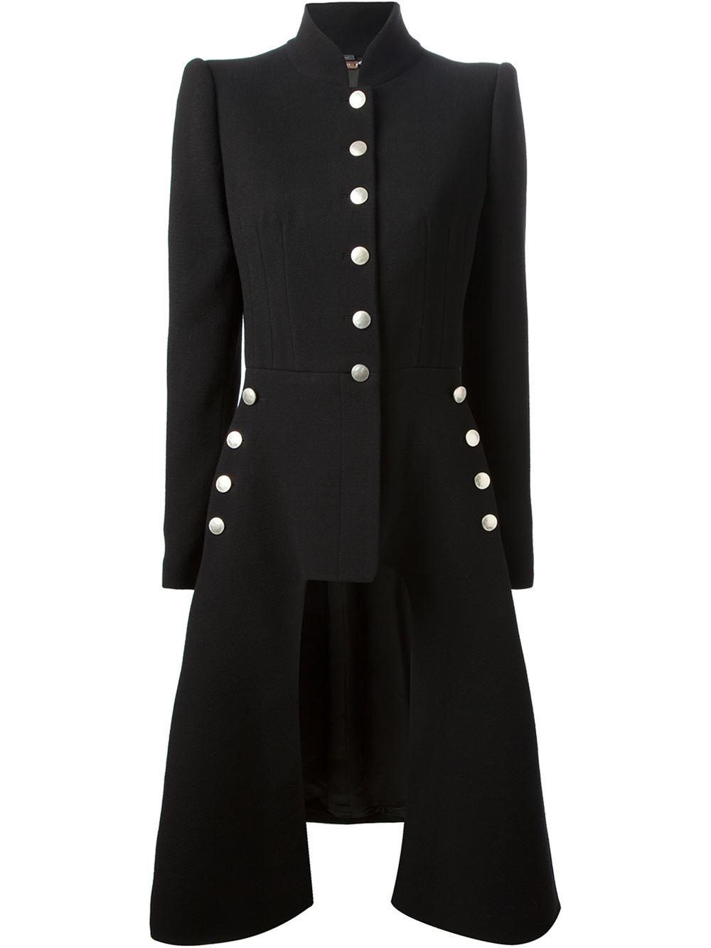 Alexander mcqueen asymmetric coat