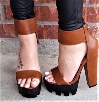 shoes black and tan sandals tan sandals chunky tan ssandals tan sandals chunky sandals