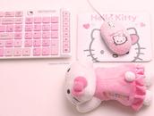 kawaii,hello kitty,laptop,computer,keyboard,mouse,japanese,pink,girly,pastel,computer accessory