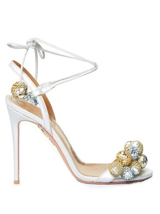 sandals suede gold silver shoes