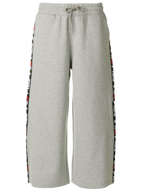 fila pants women spandex cotton grey