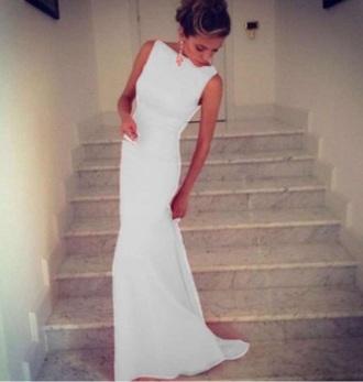 dress white dress mermaid dresses white dresses for brides long sleeves white dress white dress beautiful white long dress