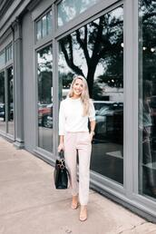 krystal schlegel,blogger,sweater,pants,t-shirt
