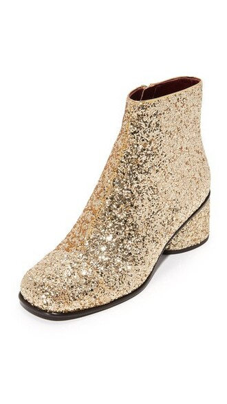 booties gold shoes