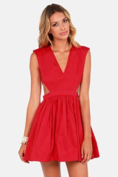 Style a red dress 80s fashion