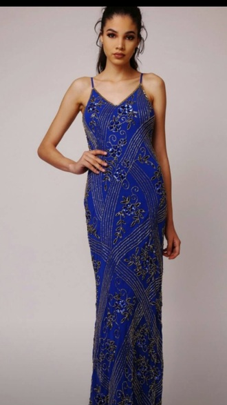 dress formal important beautiful prom dress prom prom gown i need this help formal dress ergent blue blue dress embroidered