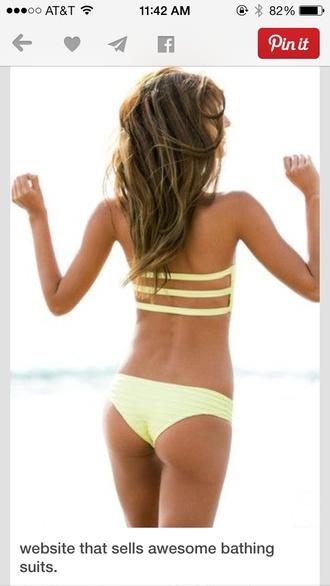 swimwear bikini yellow swimwear style bikini top