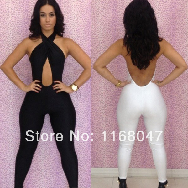 2014 Bandage Jumpsuit S M L Plus Size Women New Fashion Sexy Backless Hollow Out Clubwear Bodycon Novety Party Jumpsuit CD011 -in Dresses from Apparel & Accessories on Aliexpress.com