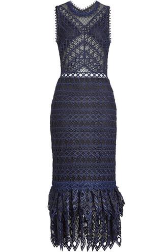 dress midi dress midi lace blue