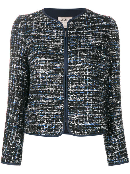 Armani Collezioni jacket women spandex blue
