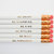 Gentle Reminders Pencils- White and Gold, Set of 6