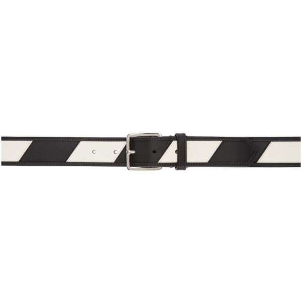 Calvin Klein 205W39NYC Reversible Black & White Stripe Belt