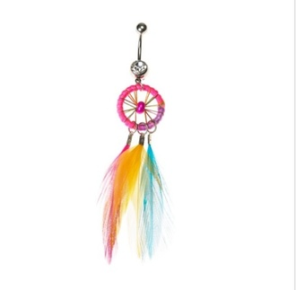 jewels dreamcatcher belly piercing belly ring colorful