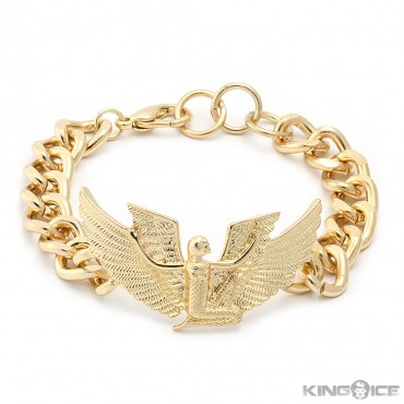 Gold egyptian goddess isis chain bracelet