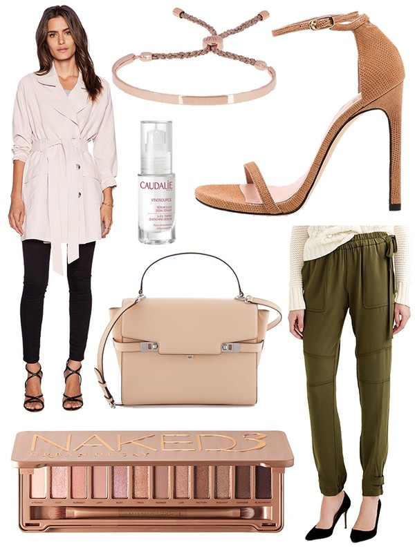 the glam files blogger sandals eye shadow khaki pants makeup palette