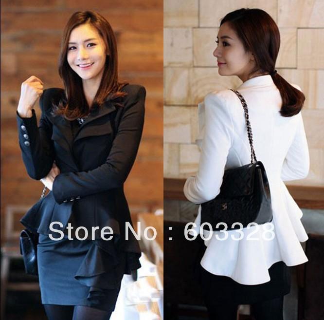 2014 Fashion Women Elegant Slim Suit One Button Casual Blazer Swallowtail Jacket Coat Ladies Office Suits | Amazing Shoes UK