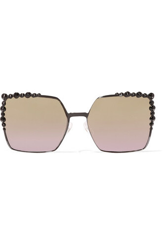 metal embellished sunglasses black