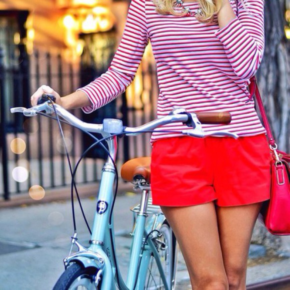 red sweater cute blouse stripes classy preppy