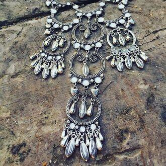 jewels cherry diva bohe large ne boho boho chic boho necklace bohemian bohemian necklace gypsy gypsy necklace gypsy warrior silver necklace statement necklace necklace large necklace chunky necklace