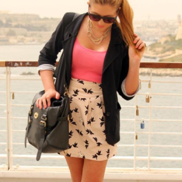 H&m Bird Skirt From