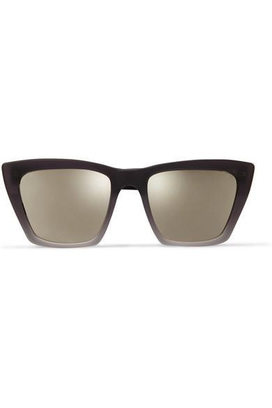 Prism|Sydney square-frame matte-acetate mirrored sunglasses|NET-A-PORTER.COM