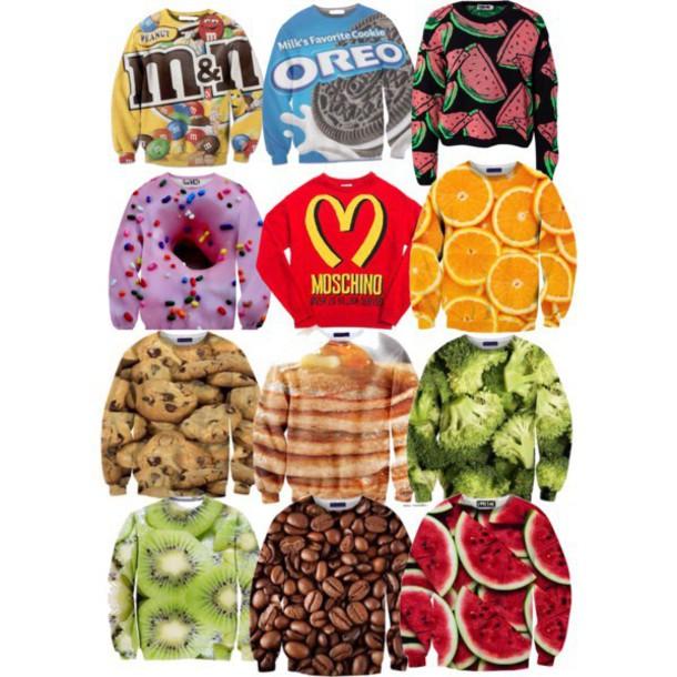 sweater comfy food
