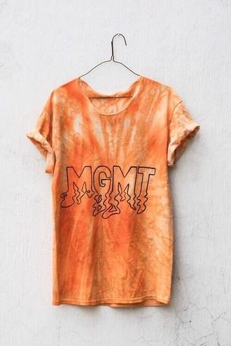 band tie dye summer orange t-shirt tie dye shirt