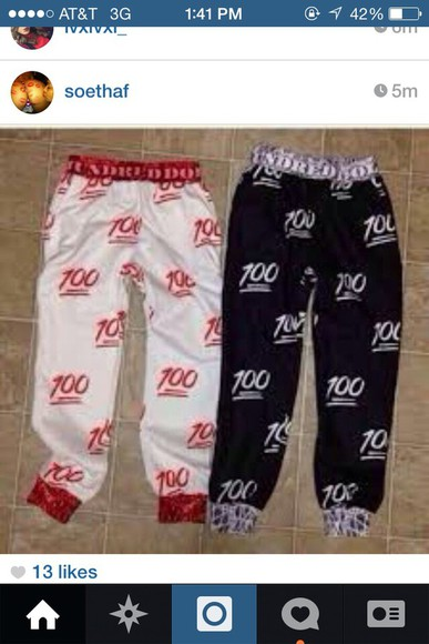 pants hundred dollar 100 black red white hundreds dollar sportswear joggers gangsta comfy outfits pajamas