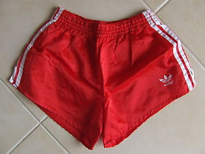 Vintage Shorts Adidas (M/6) Red Running Sprinter Nylon West Germany Sporthose | eBay