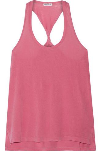 vintage cotton pink top