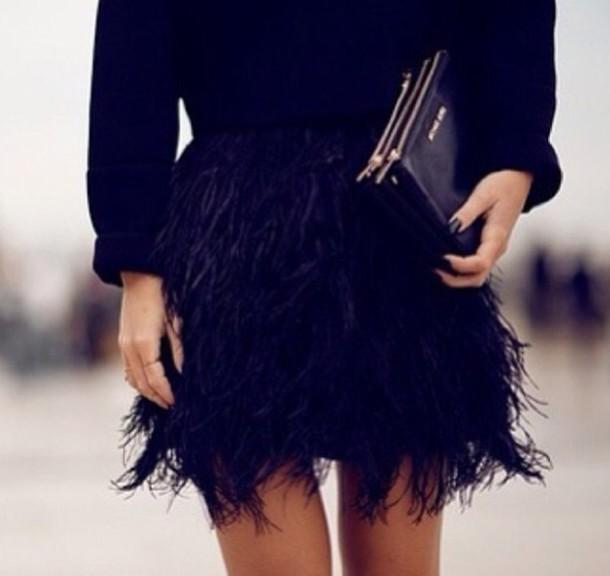 skirt black skirt feathers black mini skirt blue fluffy skirt feathers feather skirt blue blue skirt fether ruffle exact fashion all black everything