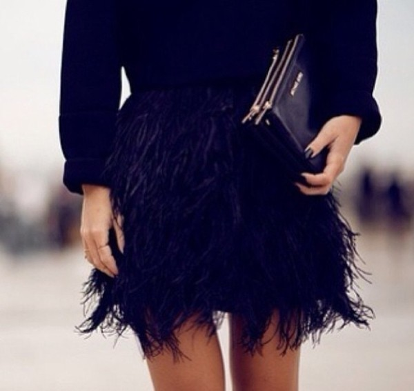 skirt black skirt feathers black mini skirt blue fluffy skirt feathers feather skirt blue blue skirt fether ruffle exact fashion all black everything