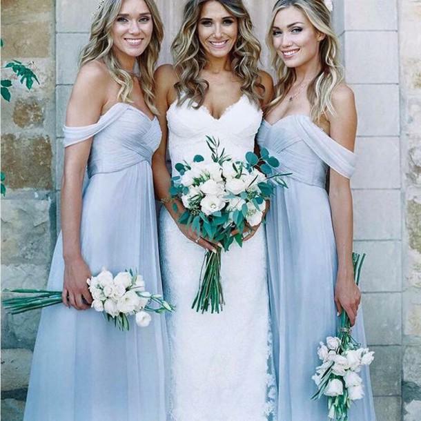 dress bridesmaid light blue blue dress