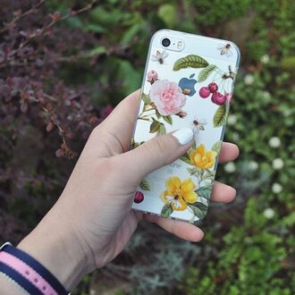 phone cover yeah bunny cherry floral pastel iphone cover iphone case