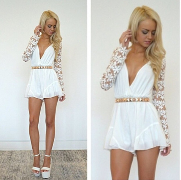 Cute White Jumpsuits | Fashion Ql