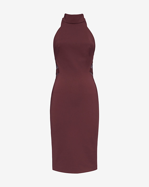 b674c7e4766f Noam Hanoch EXCLUSIVE Gitta Mock Halter Neck Lace Detail Dress at INTERMIX    Shop Now ...