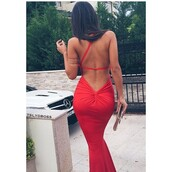 dress,red dress,red,luxury,prom dress,evening dress,long prom dress,backless dress,bodycon dress,beautiful,long dress,sexy dress,gorgeous,amazing,deep v back,deep v dress,sexy red dress,sexy red,red mermaid prom dresses,dress tumblr,prom,gown,backless,prom gown,red prom dress,ida greco