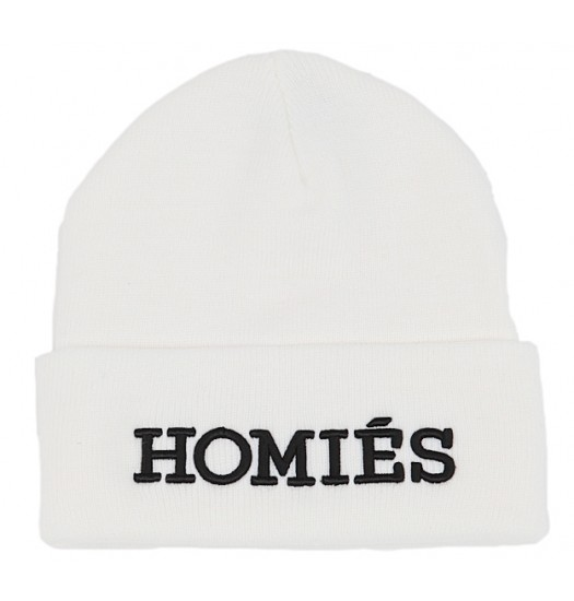 2a84c68ebdffba BRIAN LICHTENBERG White Homies Beanie with Black Embroidery, Cara  Delevingne in HOMIES beanie Kylie Jenner IN ...