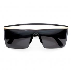 'gaga' half frame shield sunglasses