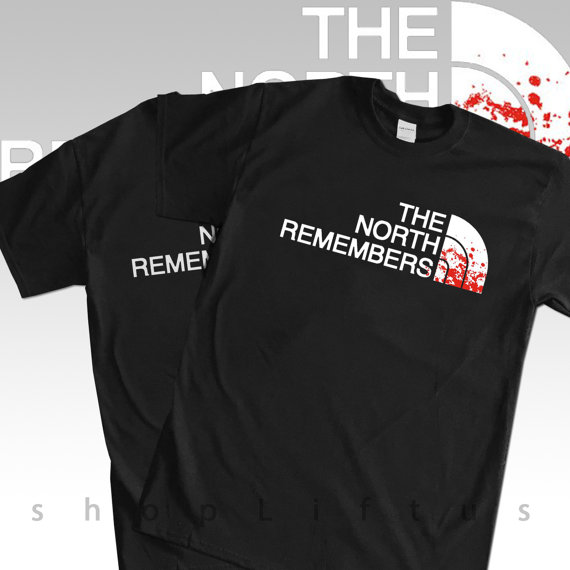 speical offer purchase cheap half price Game of thornes tshirt, the north remembers t-shirt, jon ...