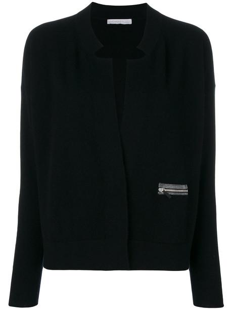 cardigan cardigan zip women suede black silk sweater
