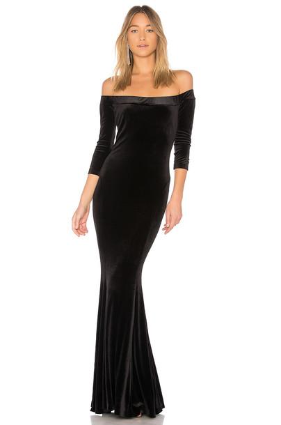 Norma Kamali gown black dress