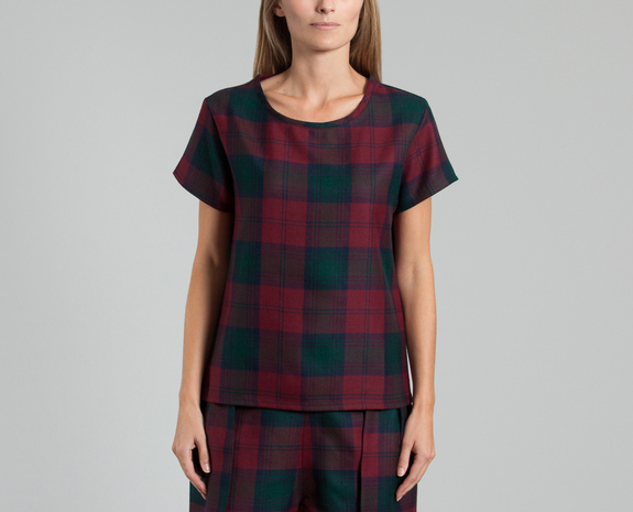 Top Tartan Rouge Andrea Crews en vente chez L'Exception