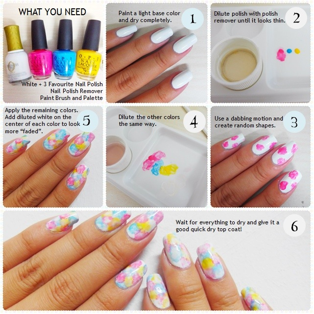 Tutorial: Watercolor Nails | The Nail Artelier