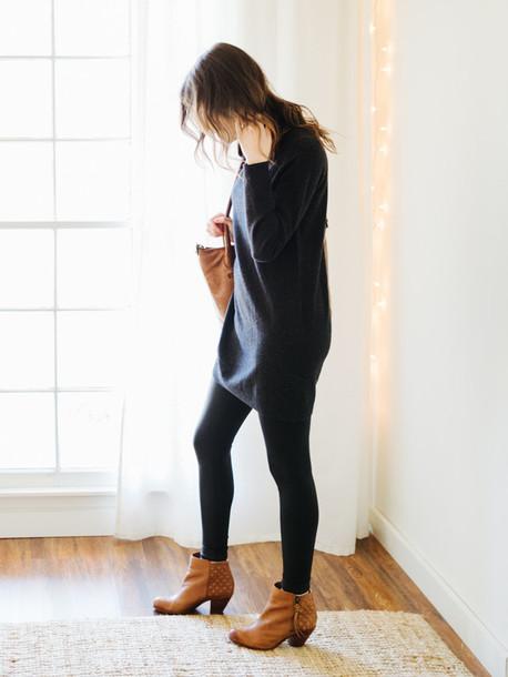 sweater, tumblr, black sweater, oversized sweater ...