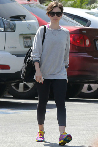 leggings lily collins sneakers sports shoes