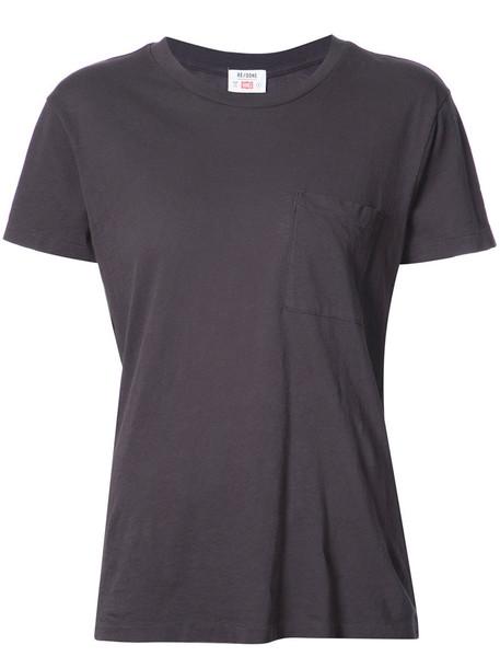 Re/Done t-shirt shirt t-shirt women boyfriend cotton grey top