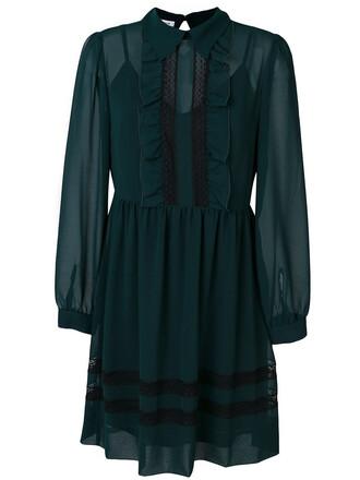 dress pleated dress pleated women spandex cotton green